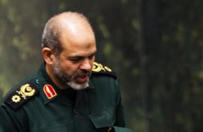 Iran Defense Minister Ahmad Vahidi 311 (R) (photo credit: REUTERS/Raheb Homavandi)