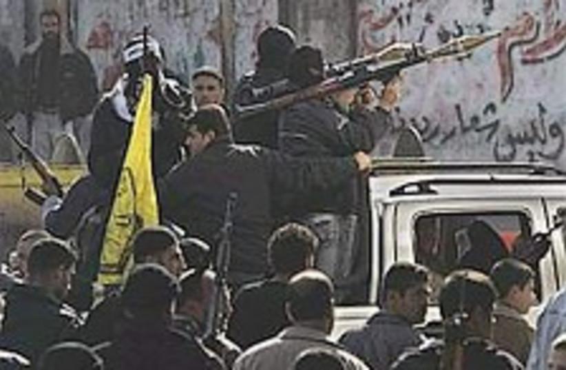 Fatah gunmen gaza 224.88 (photo credit: AP)