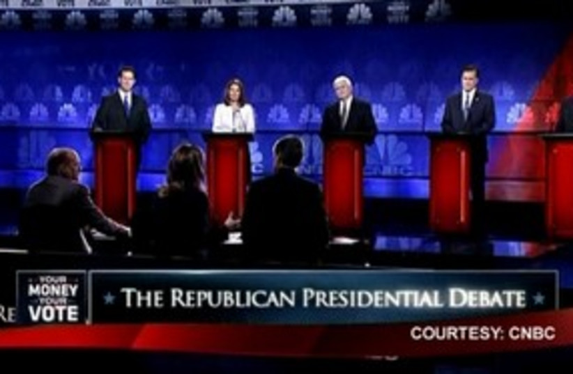 Republican debates 311 R (photo credit: Reuters)