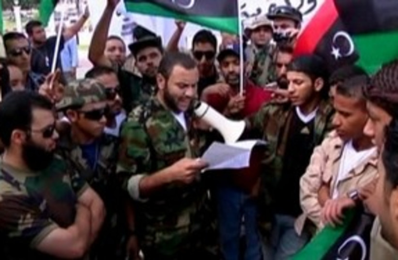 Libyan fighters 311 R (photo credit: Reuters)