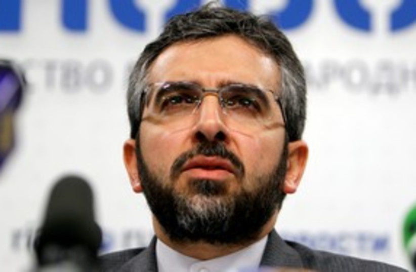 Iranian security official Ali Baqeri 311 (R) (photo credit: REUTERS/Denis Sinyakov)