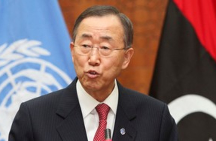 UN Secretary-General Ban Ki-moon 311 (photo credit: REUTERS/Ismail Zitouny)