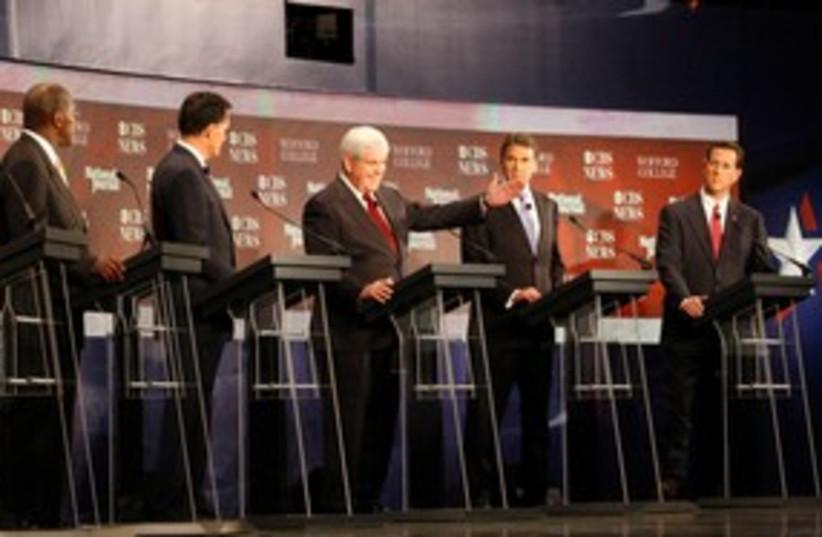 Republican US presidential candidates 311 (R) (photo credit: REUTERS/Chris Keane)