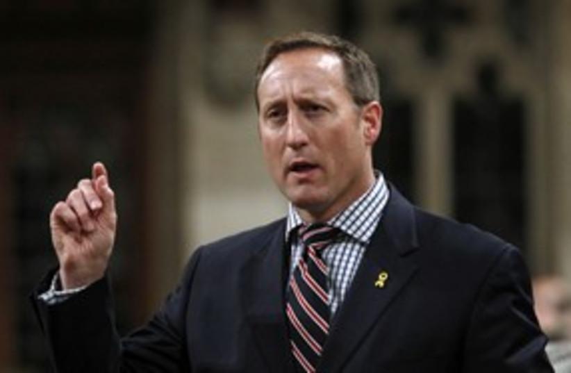 Canadian Defense Minister Peter MacKay 311 (photo credit: Reuters)