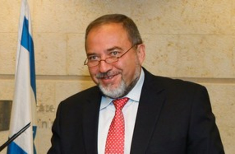 Foreign Minister Avigdor Liberman 311 (R) (photo credit: REUTERS/Baz Ratner)