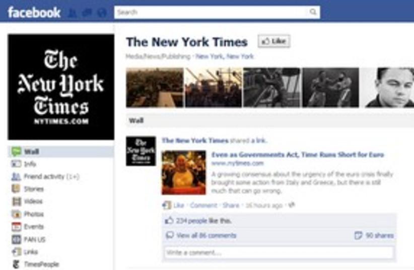 New york times on facebook  311 (photo credit: Screenshot)