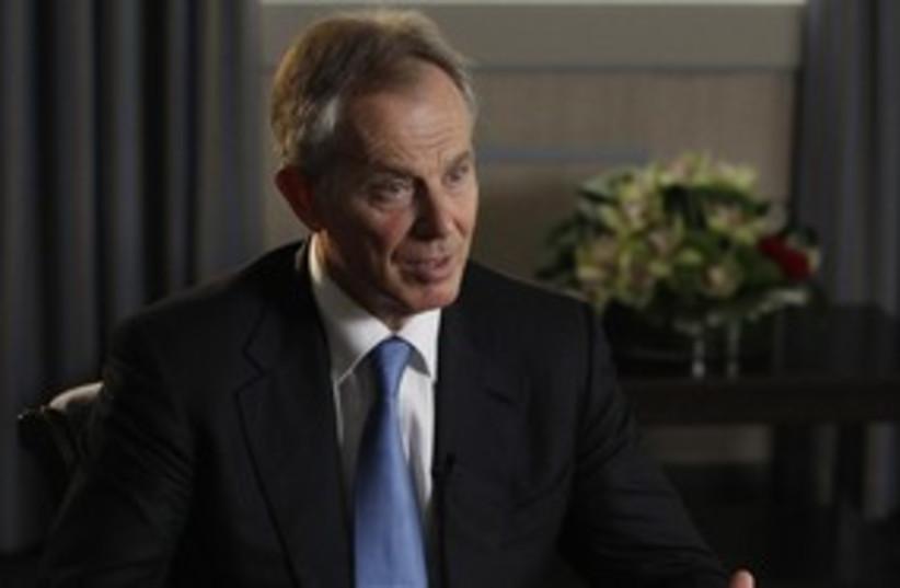 Quartet Mideast envoy Tony Blair 311 (R) (photo credit: REUTERS/Luke MacGregor)