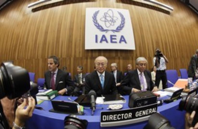 IAEA meeting Director General Yukiya Amano 311  (photo credit: Herwig Prammer / Reuters)