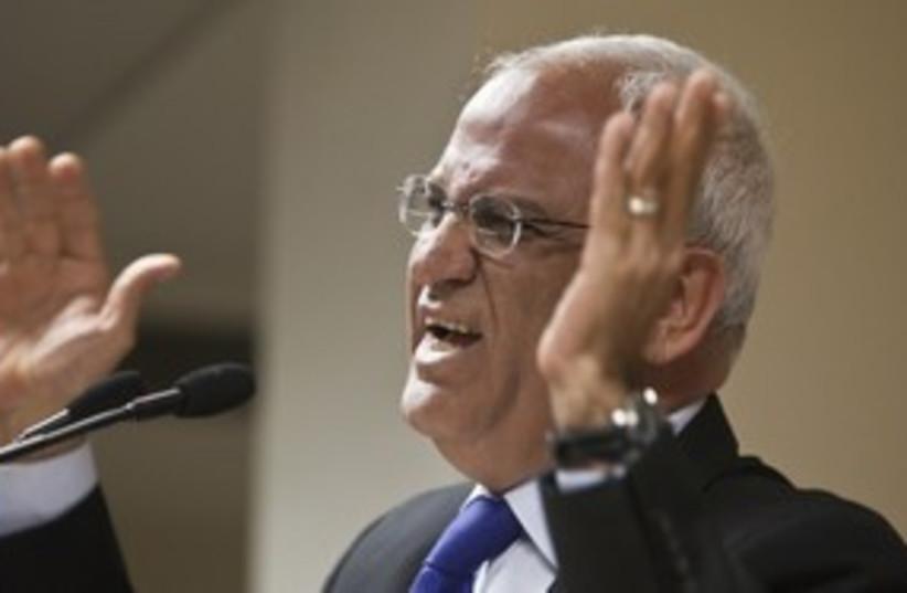 PA Chief Negotiator Saeb Erekat_311 (photo credit: Reuters)