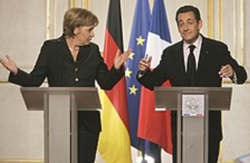 Merkel Sarkozy clowns 22 (photo credit: AP)