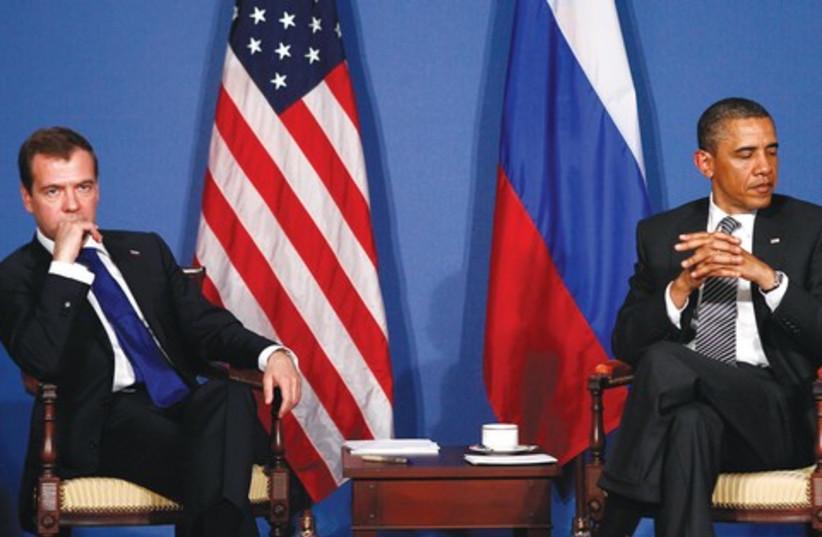 Obama and Medvedev 521 (photo credit: REUTERS)