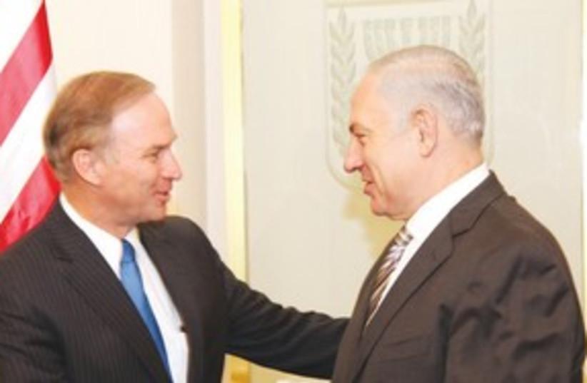 Randy Forbes with Netanyahu 311 (photo credit: Sasson Tiram)