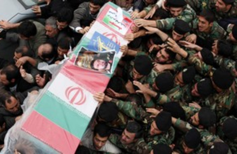 Funeral for Iranian officer killed in base explosion 311 (photo credit: REUTERS)