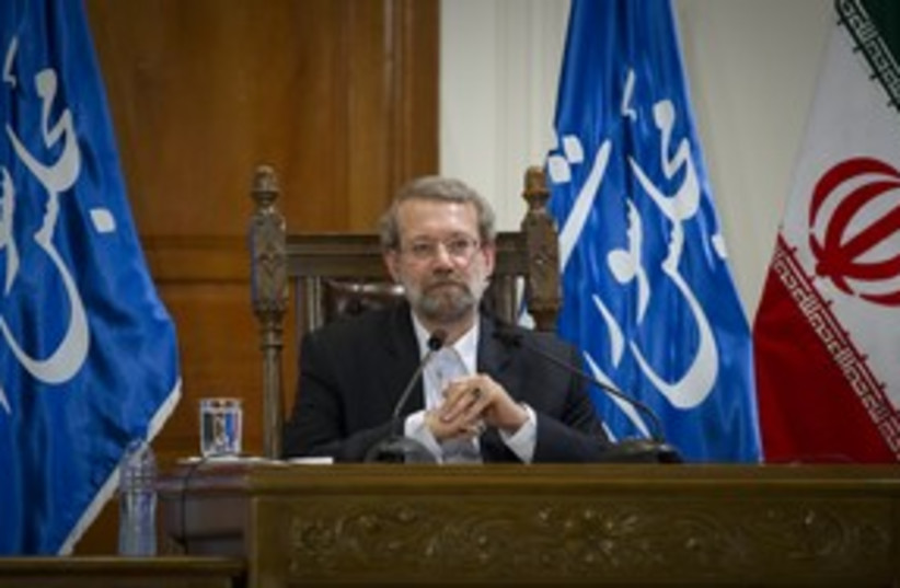 Iranian Parliament Speaker Larijani_311 (photo credit: Reuters/Caren Firouz )