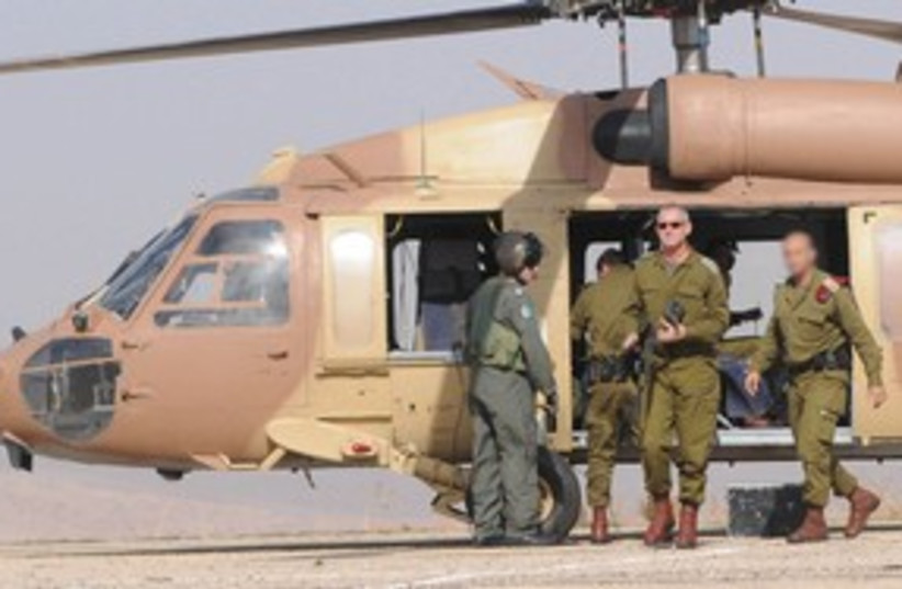 Benny Gantz, helicopter_311 (photo credit: IDF Spokesperson's Office)