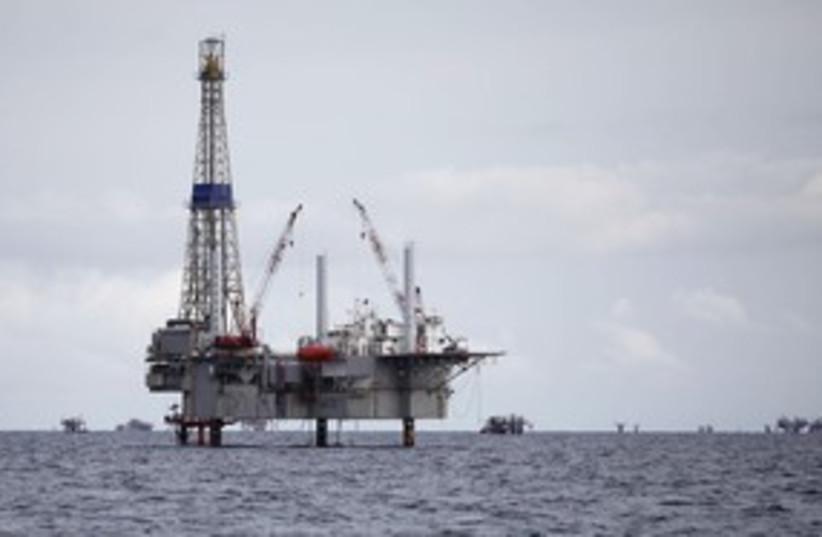 An oil drilling rig 311 (photo credit: Andrea De Silva / Reuters)