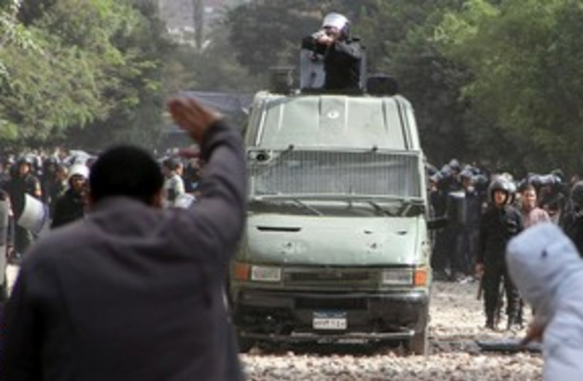 Police Tahrir 311 (photo credit: REUTERS)