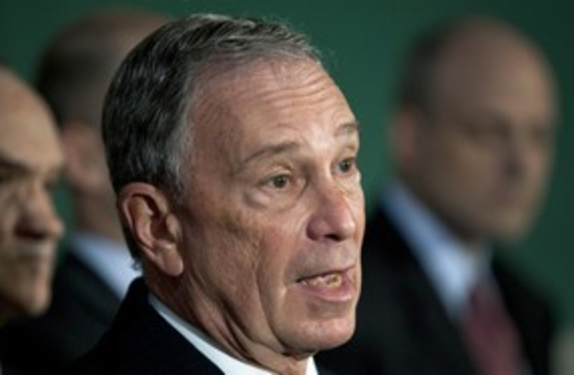 New York mayor Michael Bloomberg R 311 (photo credit: REUTERS/Andrew Burton)