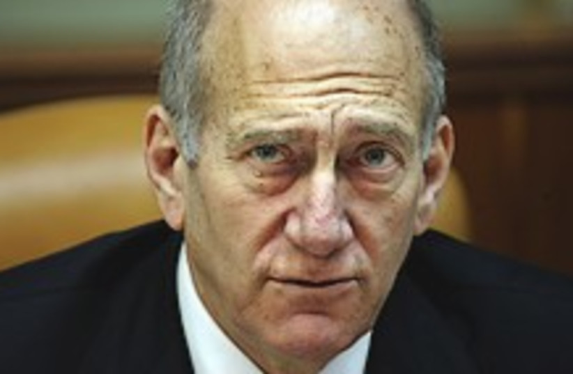 Olmert low talker  (photo credit: AP)