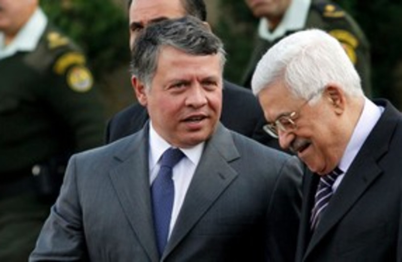 PA President Abbas and Jordan's King Abdullah II 311 (photo credit: REUTERS/Mohamad Torokman)