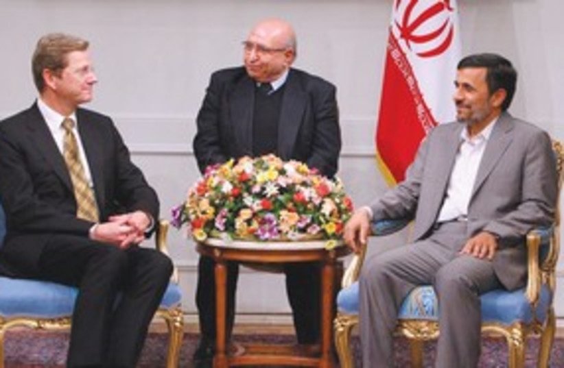 Minister Guido Westerwelle meets with Ahmadinejad R 311 (photo credit: REUTERS)