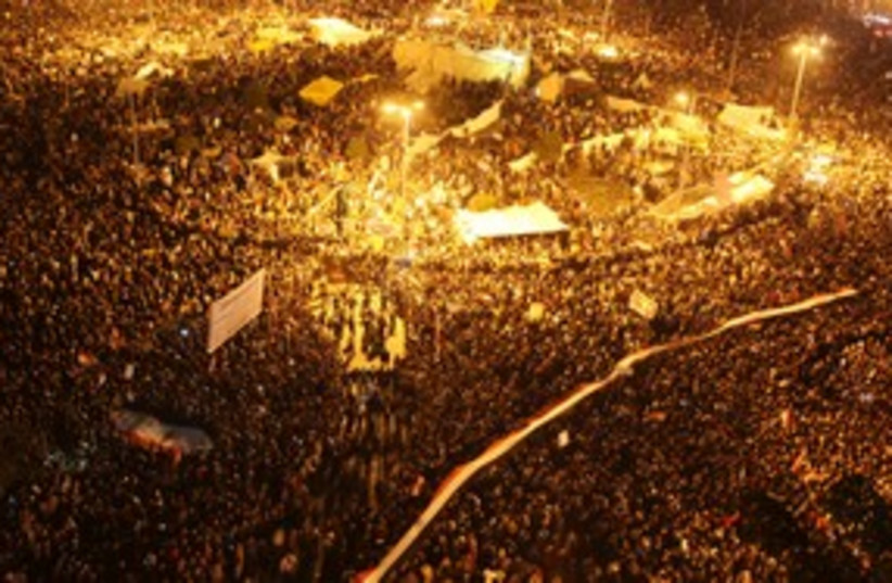 Tahrir Square as protesters chant slogans (R) 311 (photo credit: REUTERS/Amr Abdallah Dalsh)
