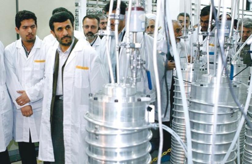 Iran president mahmoud Ahmadinejad Natanz 521 R (photo credit: REUTERS)