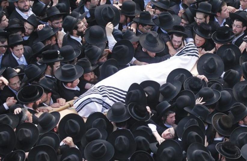 Rav Nosson Tzvi Finkel funeral 521 (photo credit: Marc Israel Sellem)