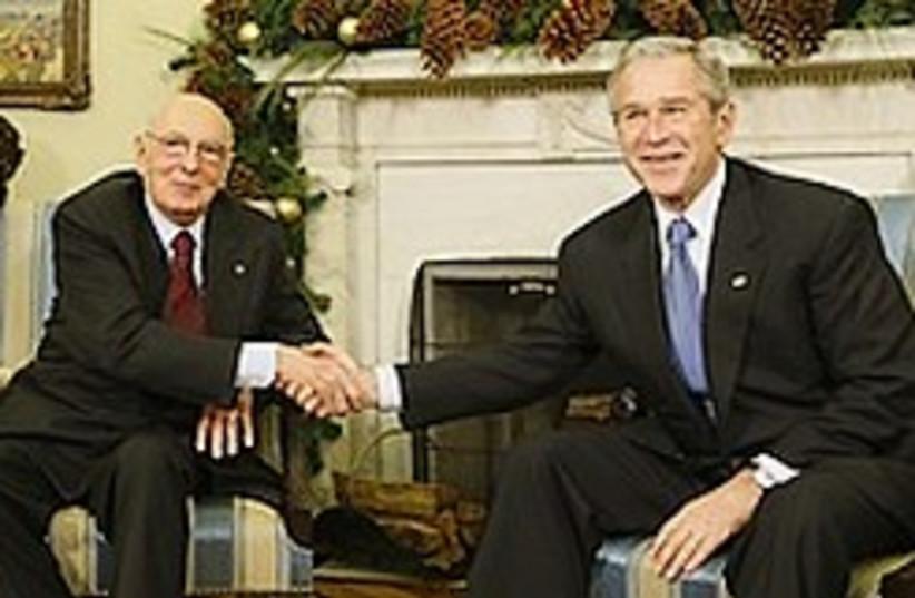 Bush Napolitano 248.88 (photo credit: AP)