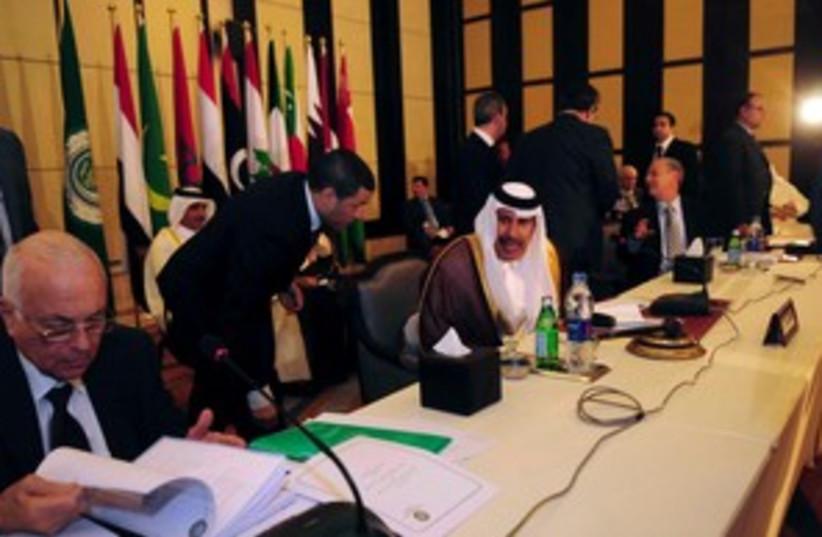 Qatar PM, talks to Arab League Secretary-General (R) 311 (photo credit: REUTERS/Stringer )