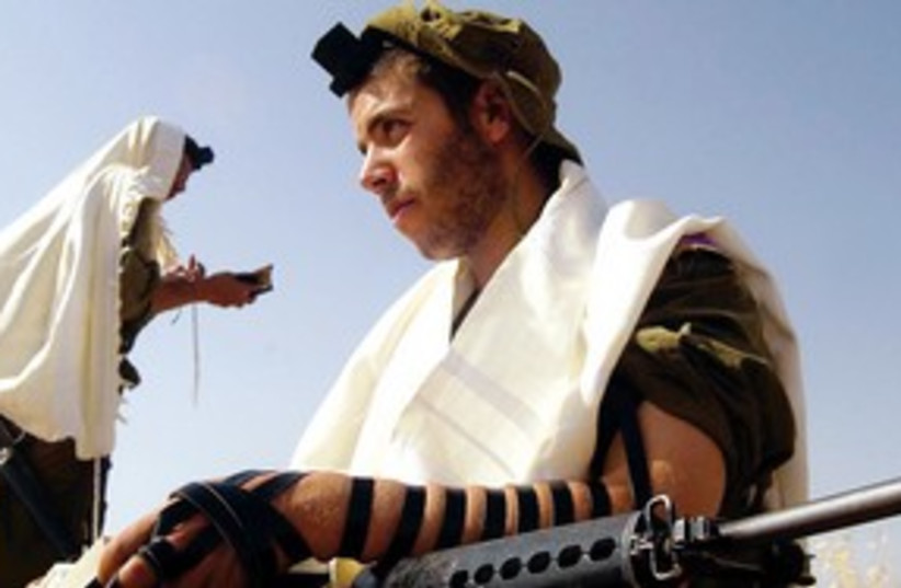 Religious IDF soldier 311 (photo credit: Reuters)