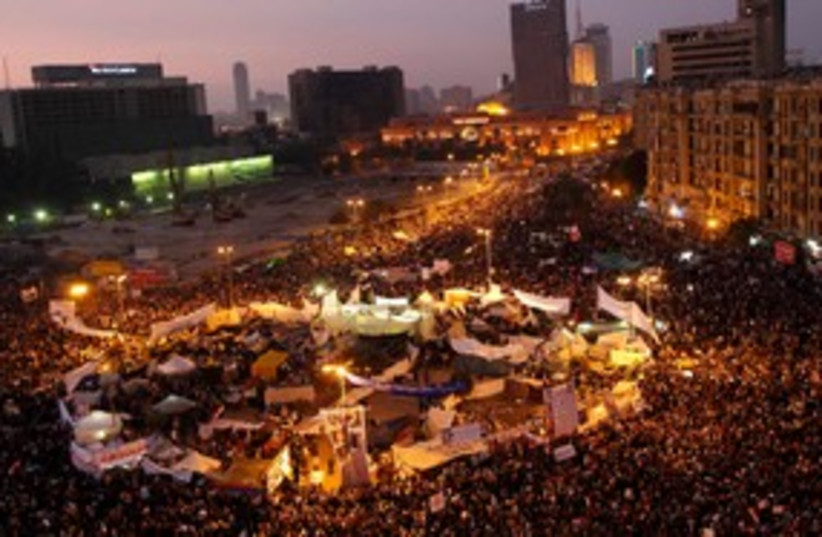 Protesters during a march in Tahrir Square in Cairo 311 (R) (photo credit: REUTERS/Ahmed Jadallah)