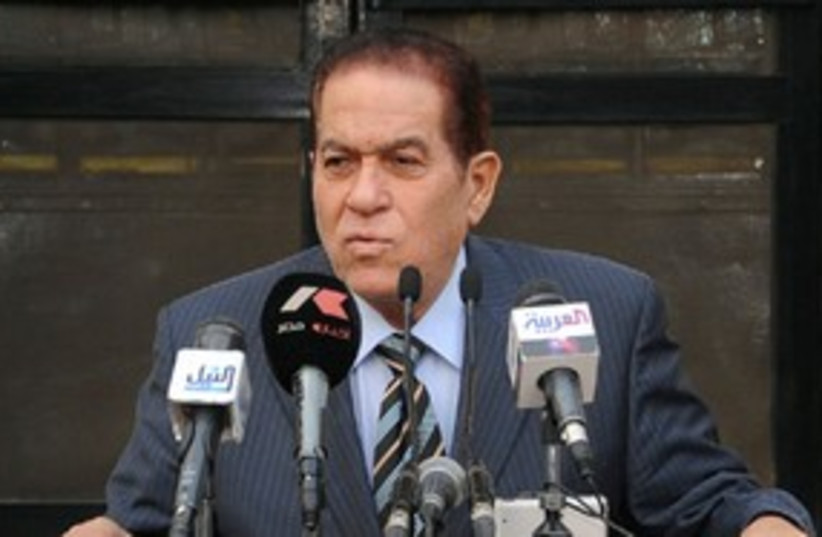 Egyptian Prime Minister Kamal Ganzouri 311 (R) (photo credit: REUTERS/Handout)