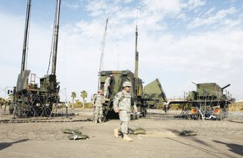 Patriot anti-missile battery 311 (photo credit: Reuters)