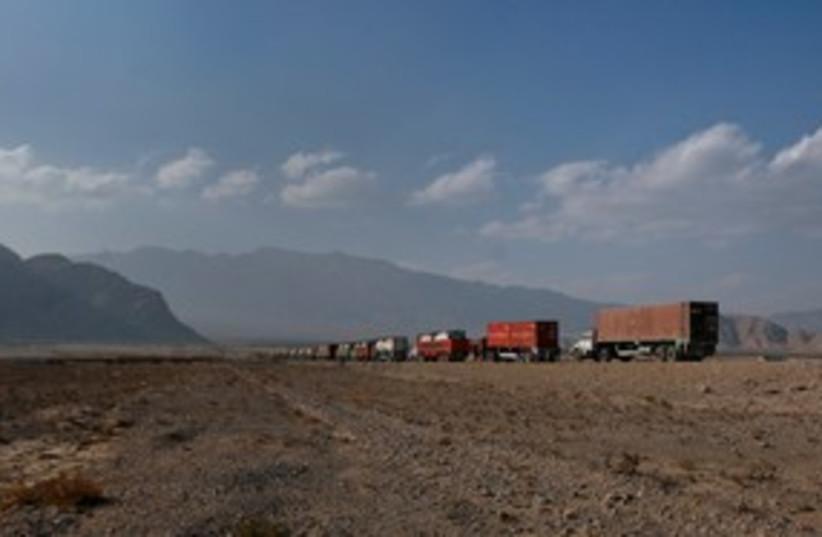 NATO supply trucks Pakistan 311 (photo credit: Reuters)