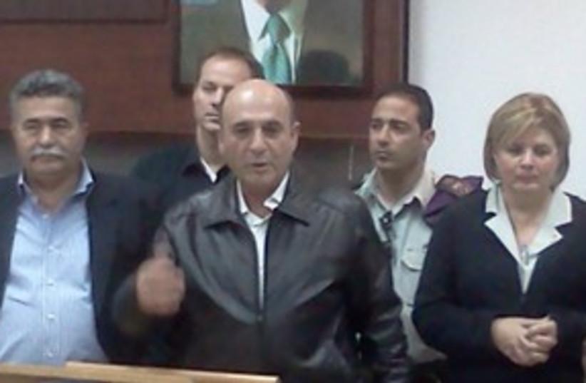 Shaul Mofaz at Tel Hashomer IDF induction base 150 (photo credit: Courtesy of FADC Spokesman)