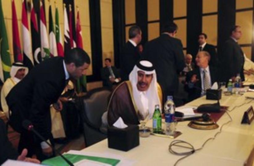 Qatar PM and FM Sheikh Hamad bin bin Jassim al-Thani_311  (photo credit: Reuters)