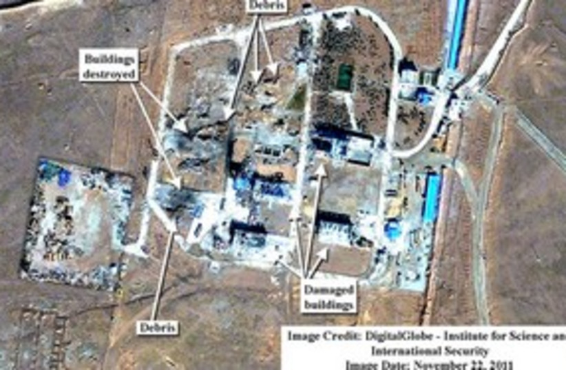 Iran nuclear satellite  image-missile base 311 (illustrative) (photo credit: DigitalGlobe - Institute for Science and Internati)