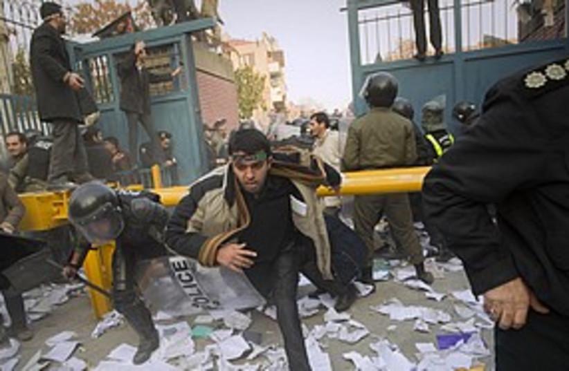 Iran British embassy protest 311 R (photo credit: REUTERS/Stringer)
