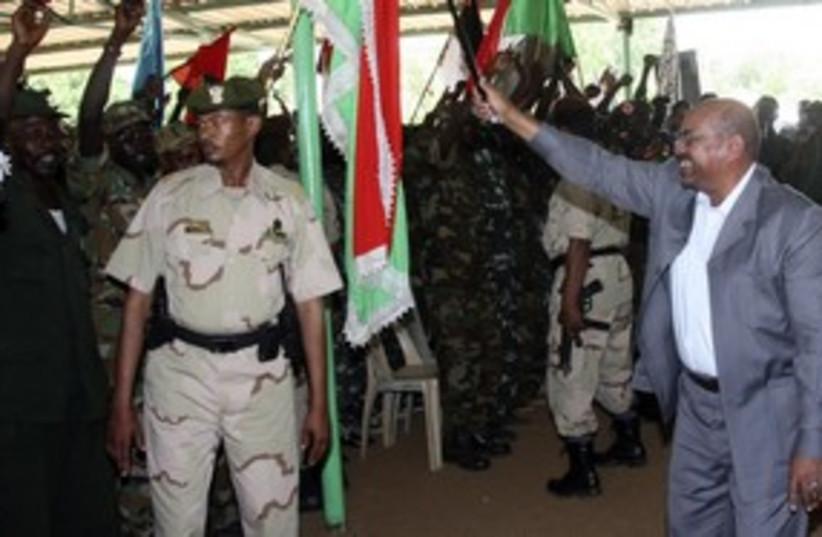 Omar al Bashir 311 R (photo credit: Mohamed Nureldin Abdallah / Reuters)