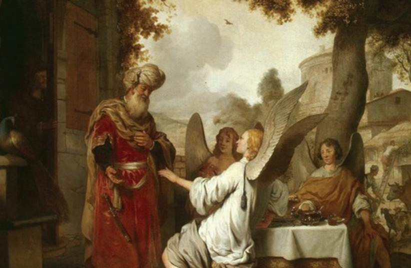 Abraham visited by angels 521 (photo credit: Creative Commons)