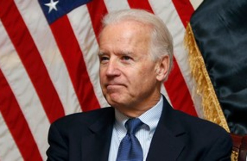 US Vice President Joe Biden 311 (R) (photo credit: REUTERS/Saad Shalash)