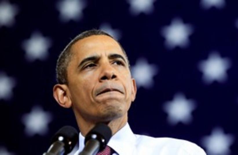 US President Barack Obama 311 (R) (photo credit: REUTERS/Kevin Lamarque )