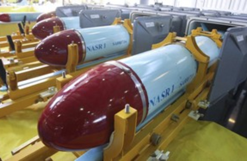 Nasr-1 cruise missile weapons 311  (photo credit: REUTERS/Fars News)