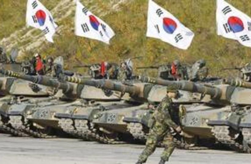 South Korean military drill 311 (R) (photo credit: Reuters)