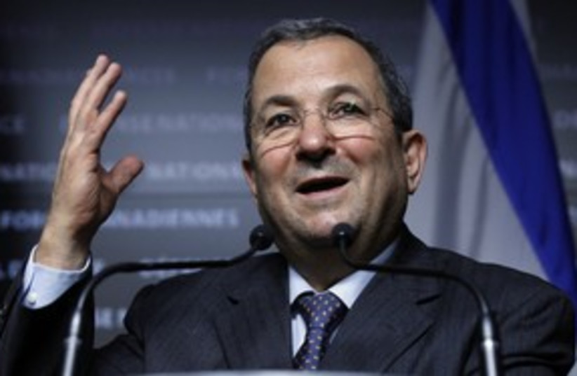 Defense Minister Ehud Barak _311 (photo credit: Reuters/Blaire Gable)