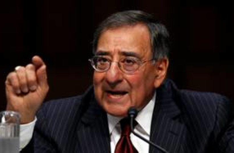 US Defense Secretary Leon Panetta 311 (R) (photo credit: REUTERS/Kevin Lamarque)