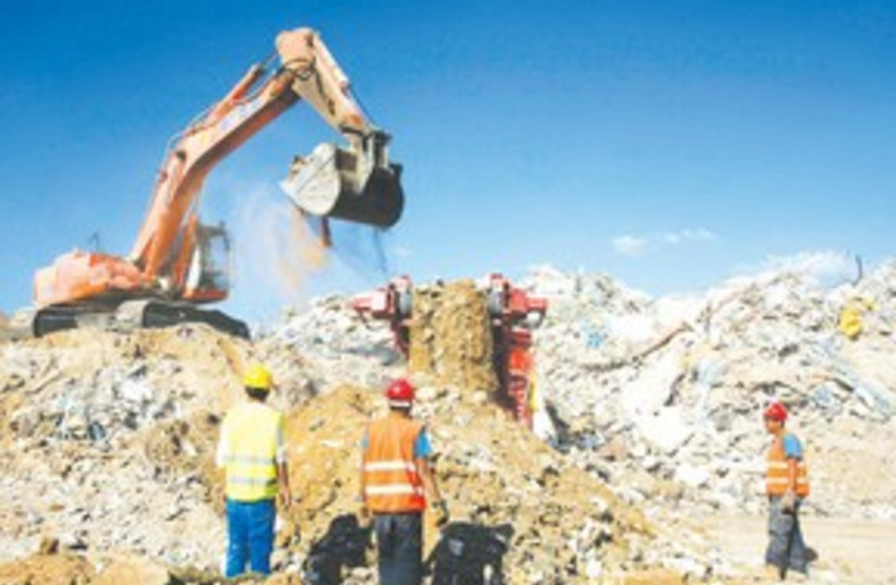 Hiriya landfill's recycling site 311 (photo credit: Gil Cohen Magen/Reuters)