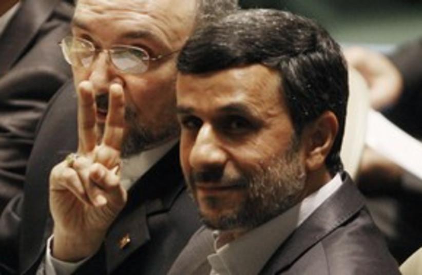 Iranian President Mahmoud Ahmadinejad at UN 311 (photo credit: REUTERS)