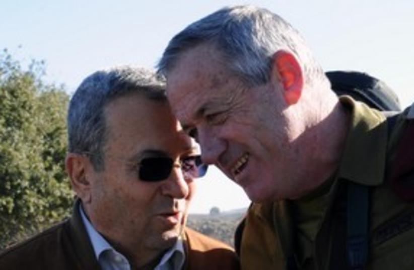 Barak and Gantz 311 (photo credit: Ariel Harmoni)